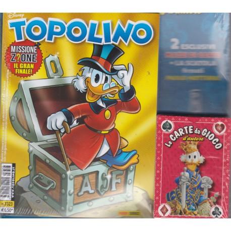 TOPOLINO EDIZIONE SPECIALE CARTE DA GIOCO n. 3323
