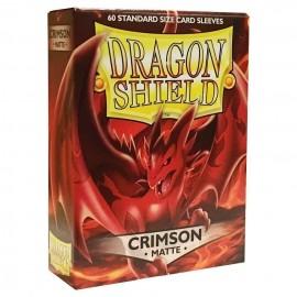 BUSTINE PROTEGGI CARD MAGIC 60 pezzi crimson matte DRAGON SHIELD